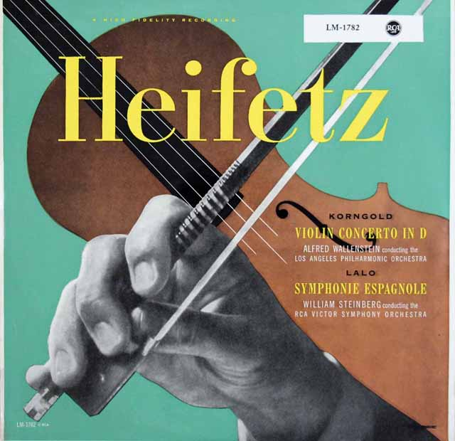 ハイフェッツのコルンゴルト&ラロ/ヴァイオリン協奏曲集    独RCA 2948 LP レコード