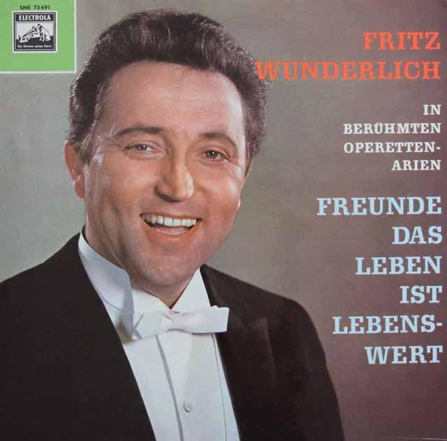 ヴンダーリヒ/オペレッタのアリア集 独ELECTROLA 3395 LP レコード