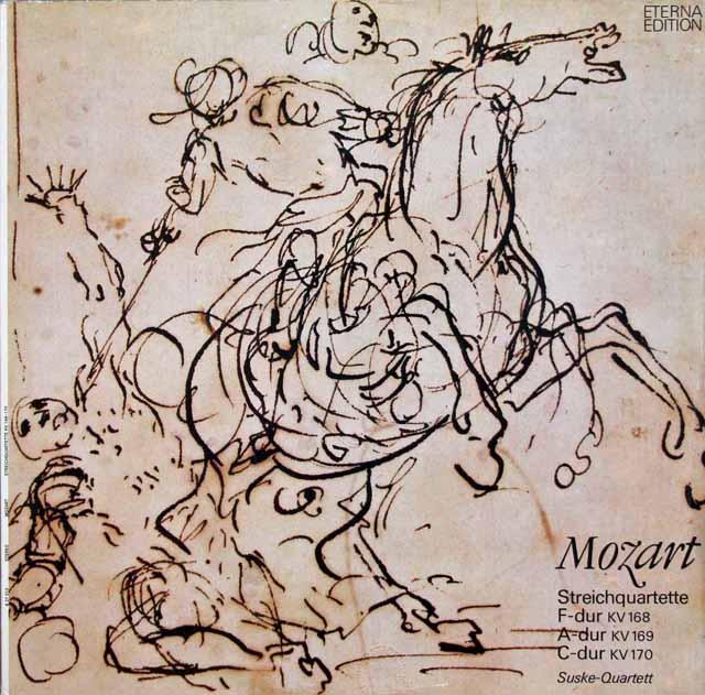 ズスケ四重奏団のモーツァルト/弦楽四重奏曲第8~10番 独ETERNA 3012 LP レコード