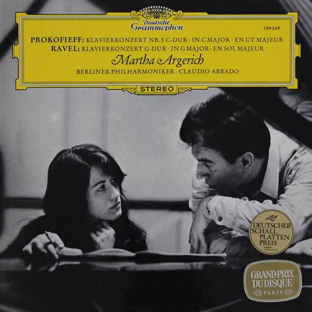 アルゲリッチ&アバドのプロコフィエフ&ラヴェル/ピアノ協奏曲 独DGG 3105 LP レコード