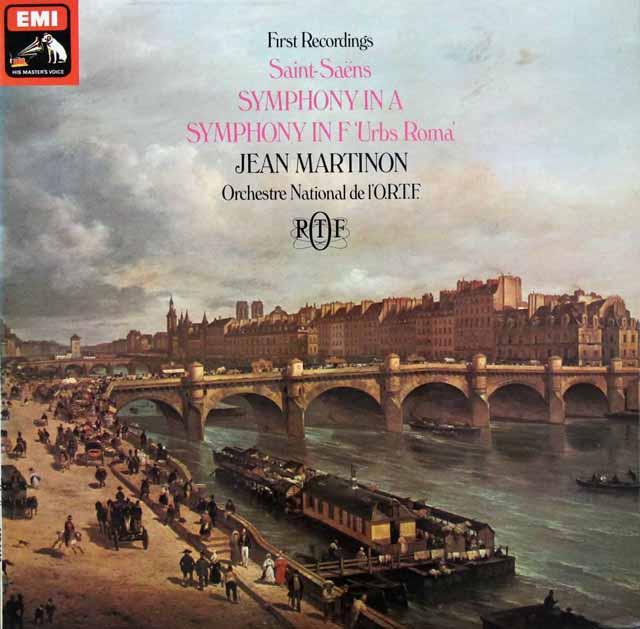 【オリジナル盤】マルティノンのサン=サーンス/交響曲イ長調ほか 英EMI 3105 LP レコード