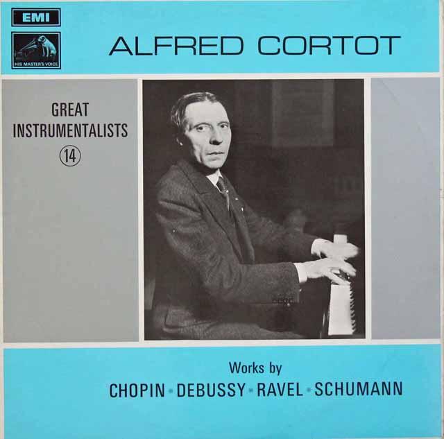偉大な演奏家(14) アルフレッド・コルトー 英EMI 3105 LP レコード