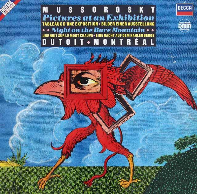 デュトワのカラヤンのムソルグスキー/「展覧会の絵」ほか 独DECCA 3105 LP レコード