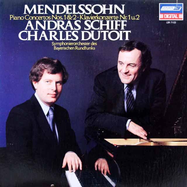 シフ&デュトワのメンデルスゾーン/ピアノ協奏曲第1&2番  蘭LONDON 3016 LP レコード