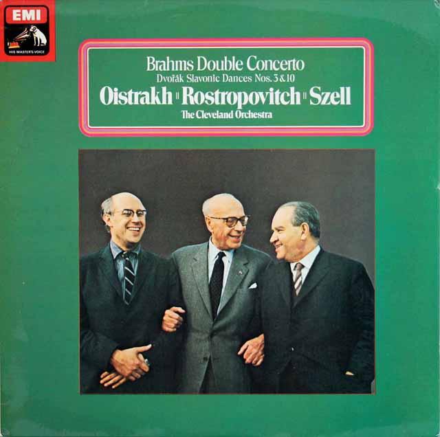 【オリジナル盤】オイストラフ、ロストロポーヴィチ&セルのブラームス/二重協奏曲  英EMI 3020 LP レコード