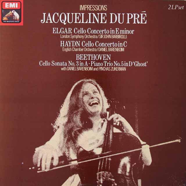 デュ・プレのチェロ作品集   英EMI 3021 LP レコード
