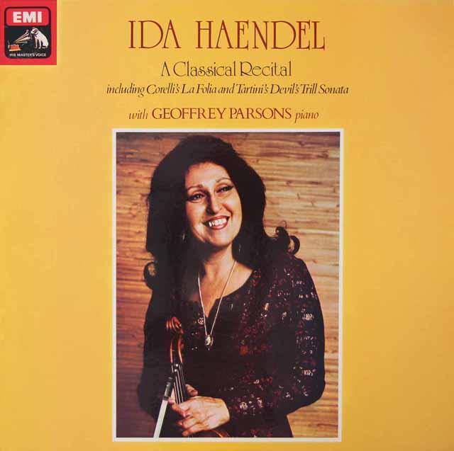 追悼 【オリジナル盤】イダ・ヘンデルのヴァイオリン・リサイタル   英EMI 3021 LP レコード