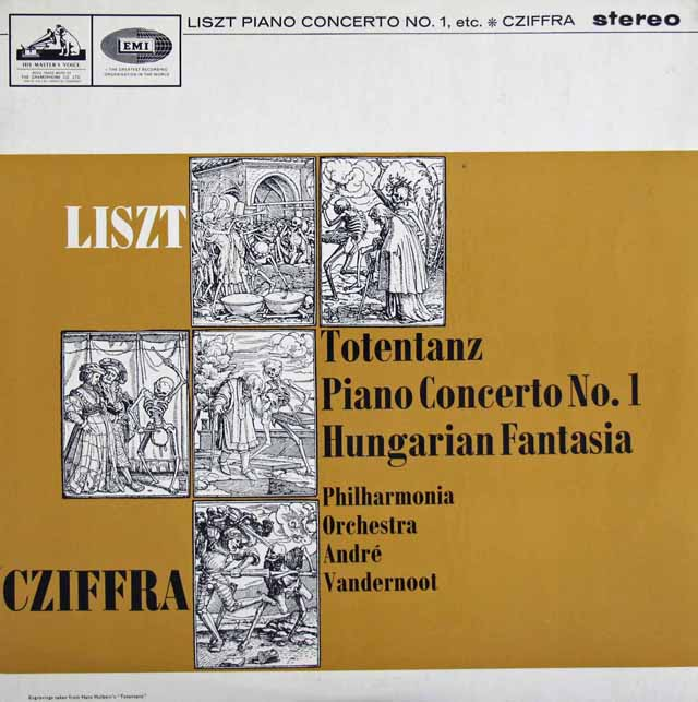 【オリジナル盤】シフラ&ヴァンデルノートのリスト/ピアノ協奏曲第1番&ハンガリー幻想曲  英EMI 3024 LP レコード