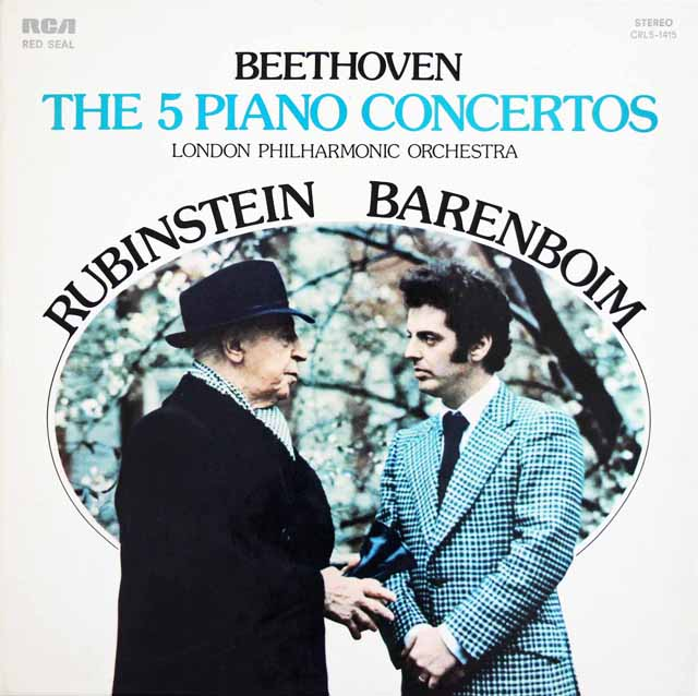 ルービンシュタイン&バレンボイムのベートーヴェン/ピアノ協奏曲全集   伊RCA 3024 LP レコード