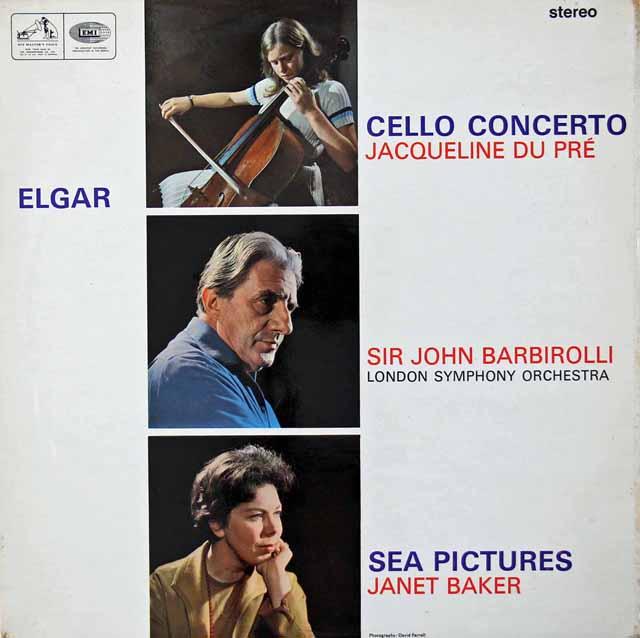 【オリジナル盤】 デュ・プレ&バルビローリのエルガー/チェロ協奏曲ほか 英EMI 3039 LP レコード