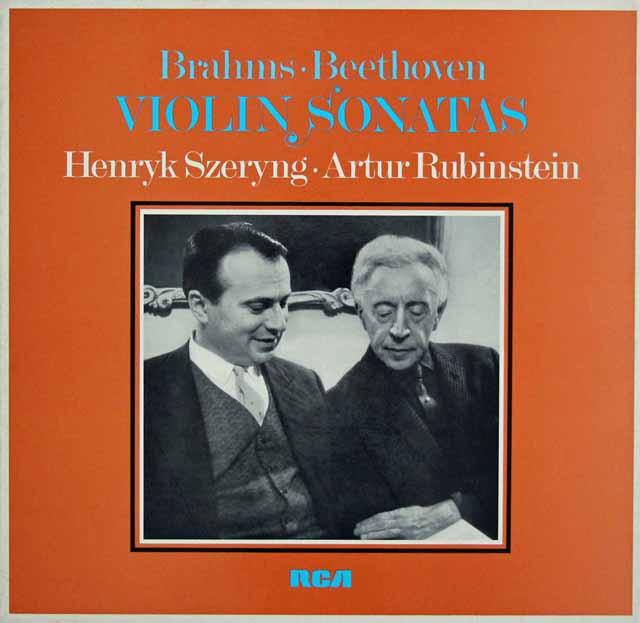 シェリング&ルービンシュタインのヴァイオリンソナタ集 独RCA 3040 LP レコード