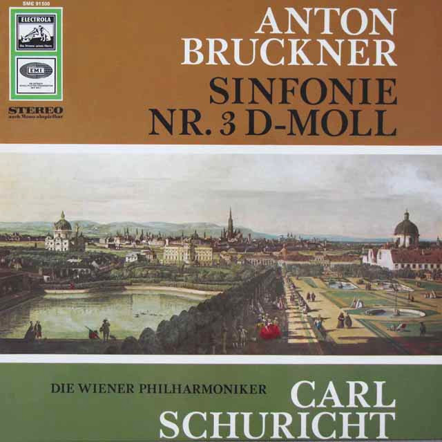 【独最初期盤】 シューリヒトのブルックナー/交響曲第3番 独EMI 3042 LP レコード