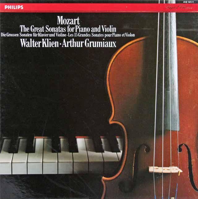 グリュミオー&クリーンのモーツァルト/ヴァイオリンソナタ集 蘭PHILIPS 3042 LP レコード