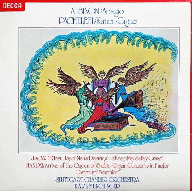 【オリジナル盤】 ミュンヒンガーのパッヘルベル/カノン、アルビノーニ/アダージョ他 英DECCA 3043 LP レコード