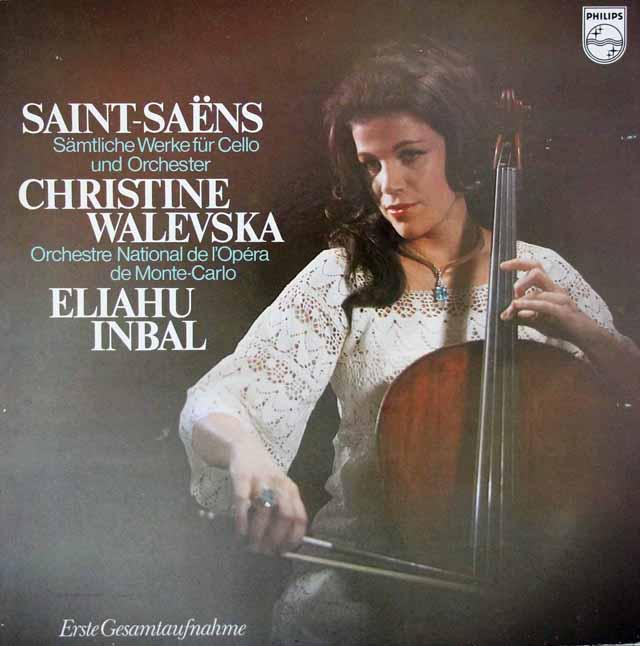 ワレフスカ&インバルのサン=サーンス/チェロ協奏曲ほか 蘭PHILIPS 3101 LP レコード