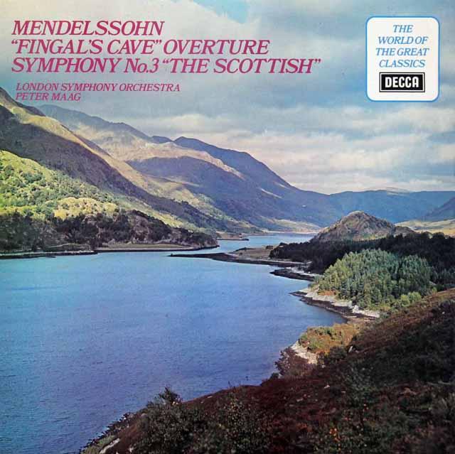 マークのメンデルスゾーン/交響曲第3番「スコットランド」ほか 英DECCA 3101 LP レコード