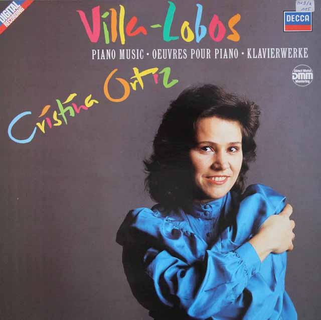オルティスのヴィラ=ロボス/ピアノ音楽集 独DECCA 3101 LP レコード