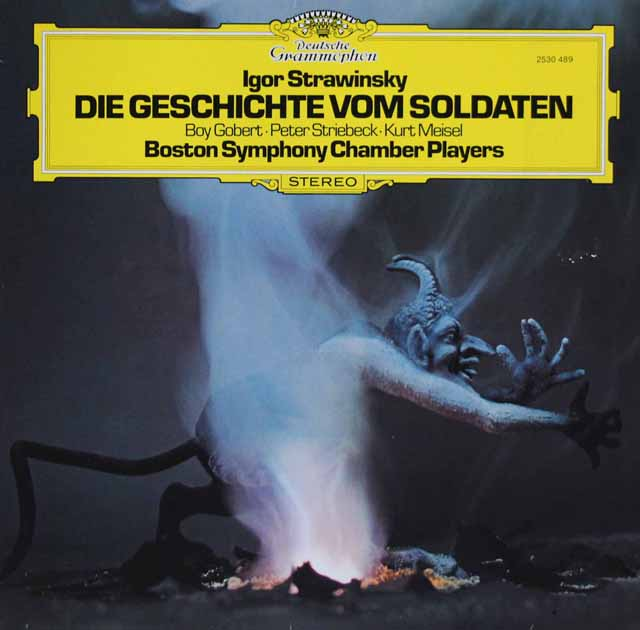 ボストン交響室内アンサンブルのストラヴィンスキー/バレエ「兵士の物語」(独語版) 独DGG 3101 LP レコード