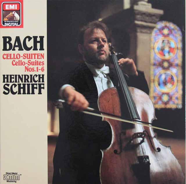 シフのバッハ/無伴奏チェロ組曲全曲 独EMI 3101 LP レコード