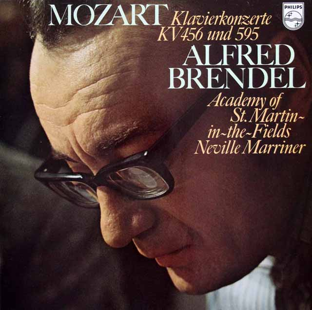 ブレンデル&マリナーのモーツァルト/ピアノ協奏曲第27&18番 蘭PHILIPS 3103 LP レコード