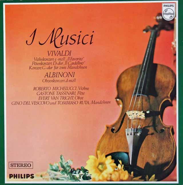 イ・ムジチのヴィヴァルディ&アルビノーニ/協奏曲集 蘭PHILIPS 3106 LP レコード