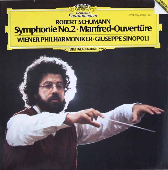 シノーポリのシューマン/交響曲第2番 独DGG 3108 LP レコード