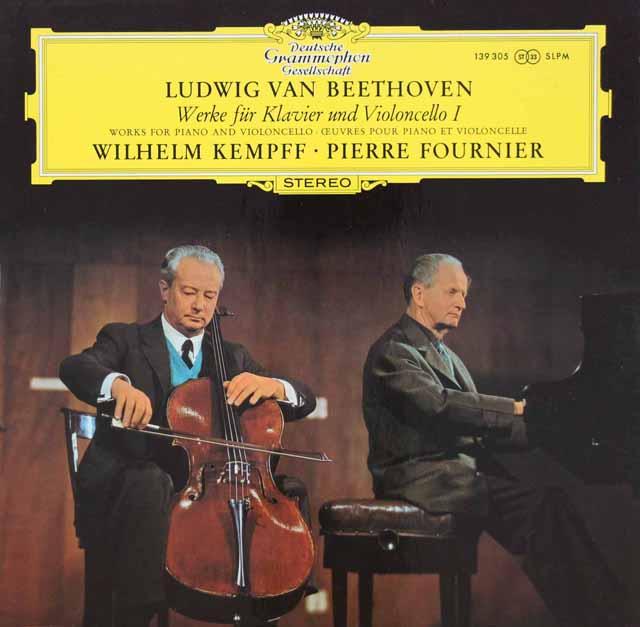 フルニエ&ケンプのベートーヴェン/チェロソナタ第1&2番 独DGG 3109 LP レコード