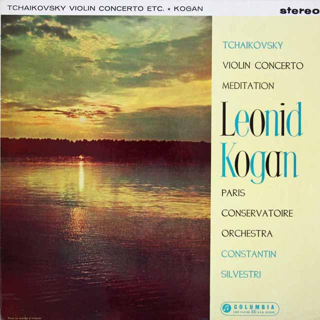 【オリジナル盤・特価】 コーガン&シルヴェストリのチャイコフスキー/ヴァイオリン協奏曲ほか 英COLUMBIA 3109 LP レコード