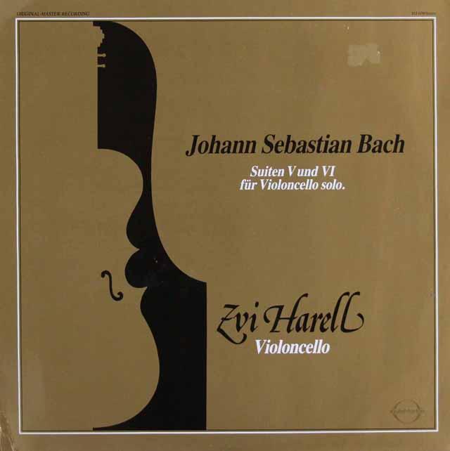 ツヴィ・ハレルのバッハ/無伴奏チェロ組曲第5&6番 独sound.star.ton 3109 LP レコード