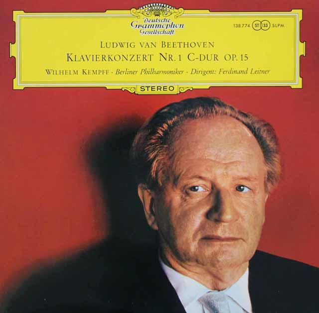 【独最初期盤】 ケンプ&ライトナーのベートーヴェン/ピアノ協奏曲第1番 独DGG 3110 LP レコード
