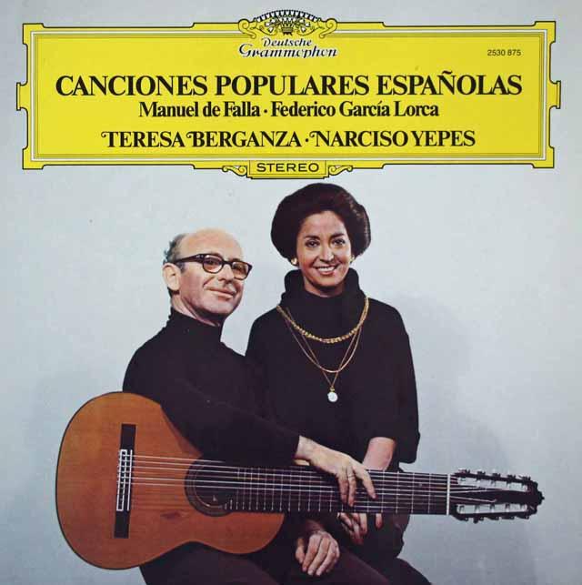 ベルガンサ&イエペスの「スペイン民謡集」 独DGG 3110 LP レコード