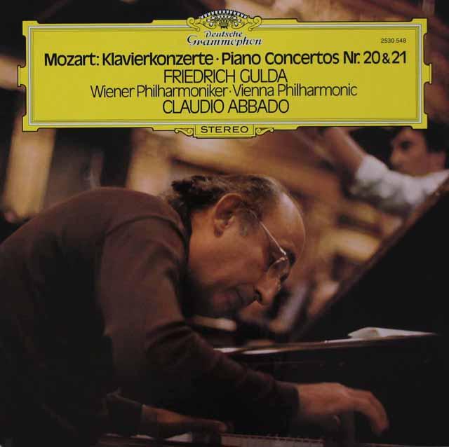 グルダ&アバドのモーツァルト/ピアノ協奏曲第20&21番 独DGG 3110 LP レコード