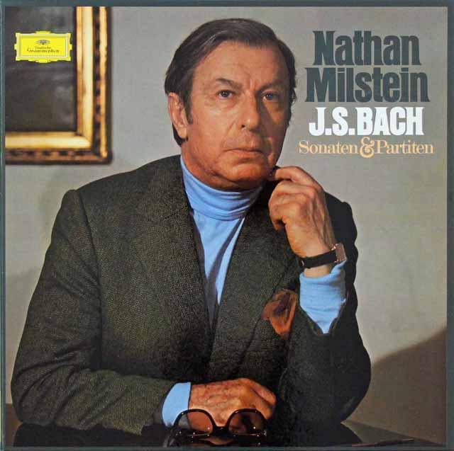 ミルシュタインのバッハ/無伴奏ヴァイオリンソナタとパルティータ 独DGG 3110 LP レコード