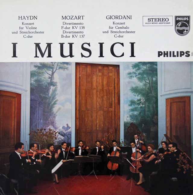 イ・ムジチのモーツァルト/ディヴェルティメントほか 蘭PHILIPS 3112 LP レコード