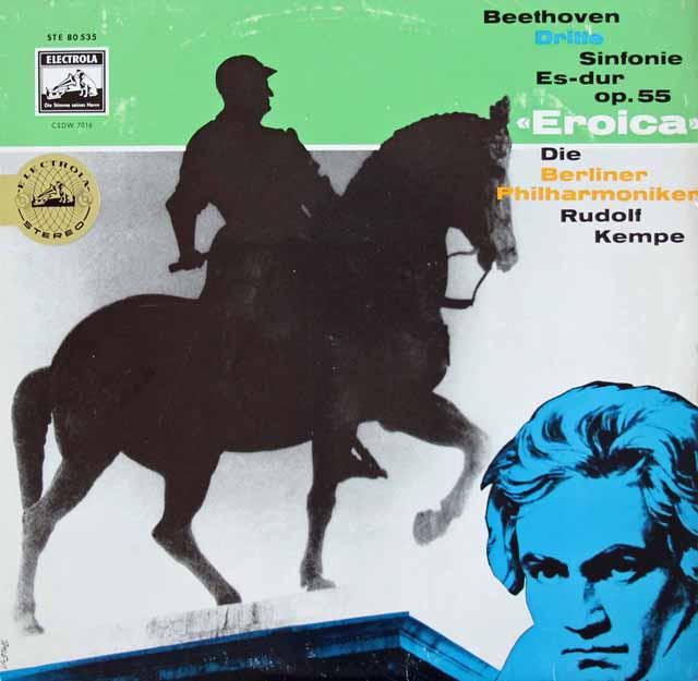 【独最初期盤】ケンペのベートーヴェン/交響曲第3番「英雄」 独ELECTROLA 3113 LP レコード