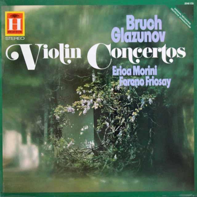 モリーニ&フリッチャイのブルッフ&グラズノフ/ヴァイオリン協奏曲集 英HELIODOR 3114 LP レコード