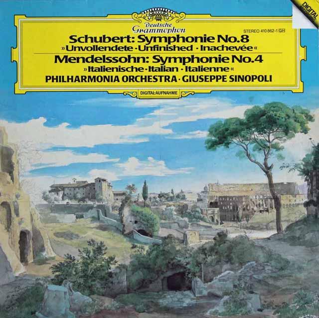 シノーポリのシューベルト/交響曲第8番「未完成」ほか 独DGG 3114 LP レコード