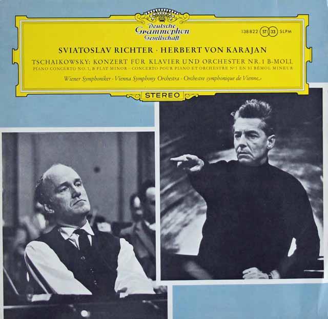 リヒテル&カラヤンのチャイコフスキー/ピアノ協奏曲第1番 独DGG 3114 LP レコード