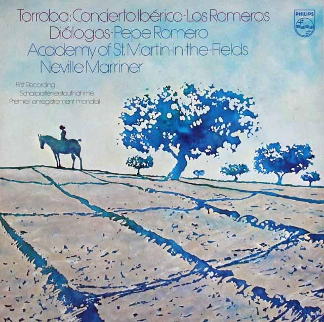ペペ・ロメロ&マリナーのトローバ/イベリア協奏曲ほか 蘭PHILIPS 3114 LP レコード