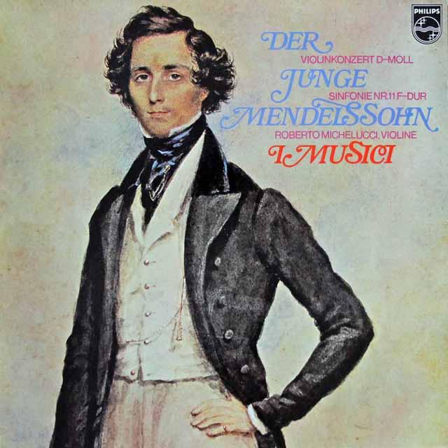 イ・ムジチのメンデルスゾーン/弦楽のための交響曲第11番ほか  蘭PHILIPS 3114 LP レコード