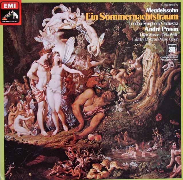 プレヴィンのメンデルスゾーン/真夏の夜の夢 独EMI 3114 LP レコード