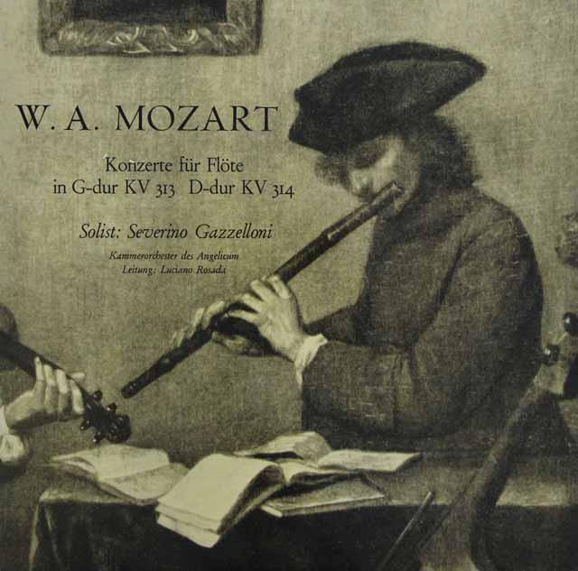 ガッゼローニ&ロサーダのモーツァルト/フルート協奏曲第1&2番 独HM 3114 LP レコード