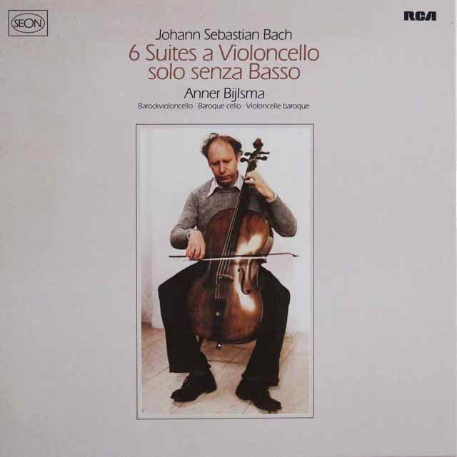 ビルスマのバッハ/無伴奏チェロ組曲 独RCA(SEON) 3114 LP レコード