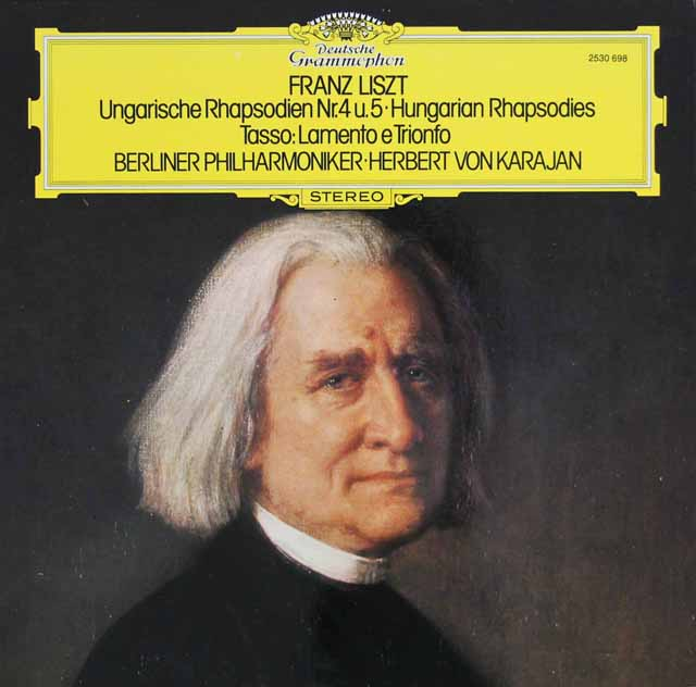 カラヤンのリスト/ハンガリー狂詩曲第4番、5番ほか 独DGG  3117 LPレコード