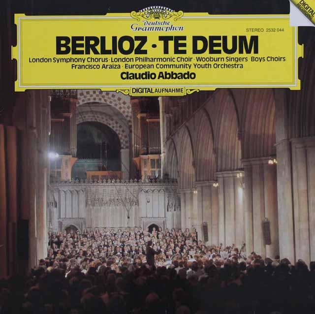 【直筆サイン入り】アバドのベルリオーズ/テ・デウム  独DGG 3117 LP レコード