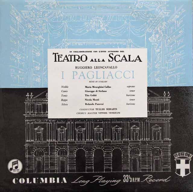 【オリジナル盤】 カラスのレオンカヴァッロ/「道化師」全曲 英Columbia 3117 LP レコード