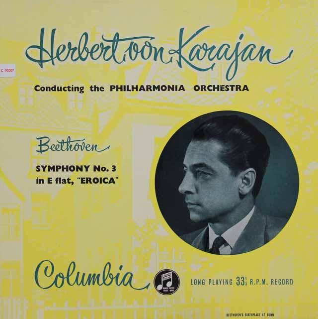 【オリジナル盤】カラヤンのベートーヴェン/交響曲第3番「英雄」  英Columbia 3117 LP レコード
