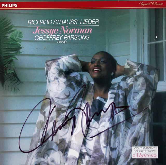 【直筆サイン入り】 ノーマンのR. シュトラウス/歌曲集 蘭PHILIPS 3118 LP レコード