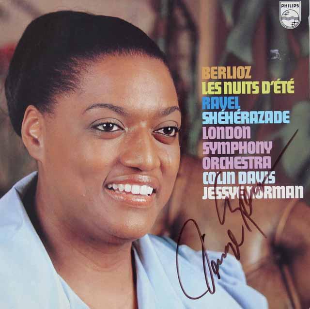 【直筆サイン入り】 ノーマン&デイヴィスのベルリオーズ/「夏の夜」ほか 蘭PHILIPS 3118 LP レコード