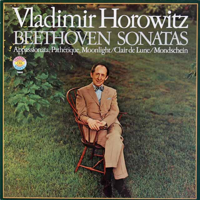 ホロヴィッツのベートーヴェン/「月光」、「熱情」、「悲愴」ソナタ 独CBS 3118 LP レコード